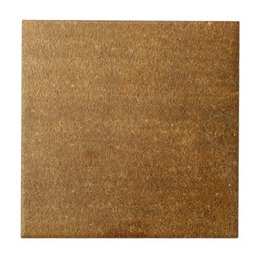 Fondo de la textura de la alfombra de Brown Azulejo Cuadrado Pequeño
