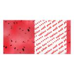 Fondo de la textura de la sandía tarjetas con fotos personalizadas