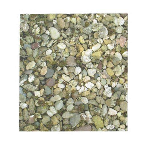 Fondo de la textura de las piedras de las rocas de bloc de notas