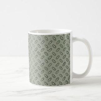 Fondo de la textura del metal de la placa del taza clásica