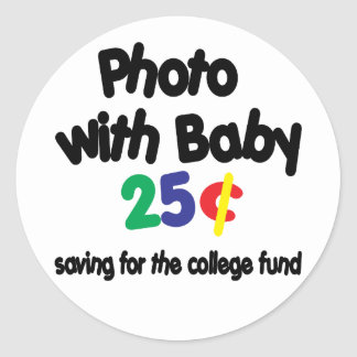 Fondo de la universidad de la foto pegatina redonda