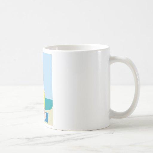 Fondo de la yoga taza de café
