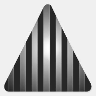 fondo de las barras de acero pegatina triangular