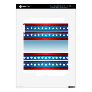 Fondo de las barras y estrellas del Día de la Pegatinas Skins Para iPad 3