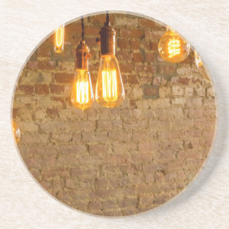Fondo de las bombillas posavasos manualidades