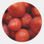 Fondo de las fresas pegatina