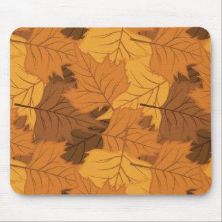 Fondo de las hojas de otoño alfombrilla de ratones