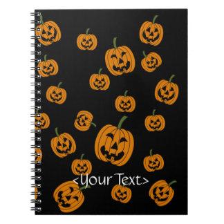 Fondo de las linternas de Jack O Cuadernos