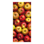 Fondo de las manzanas diseño de tarjeta publicitaria