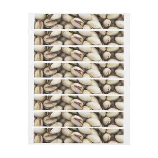 Fondo de las nueces de pistacho etiquetas postales