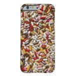 Fondo de las píldoras coloridas de la funda de iPhone 6 barely there