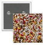 Fondo de las píldoras coloridas de la pin cuadrado