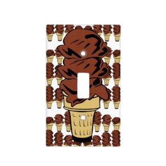 Fondo de los conos de helado de chocolate placa para interruptor