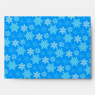 Fondo de los copos de nieve sobres