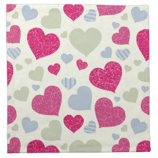 Fondo de los corazones servilleta de papel