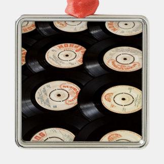 Fondo de los discos de vinilo ornamentos de reyes magos