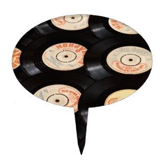 Fondo de los discos de vinilo figura de tarta