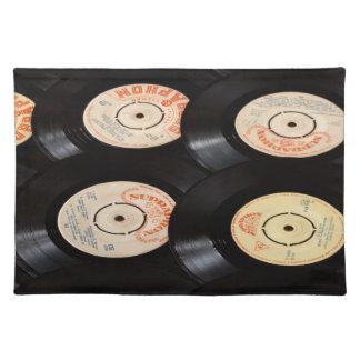 Fondo de los discos de vinilo mantel individual