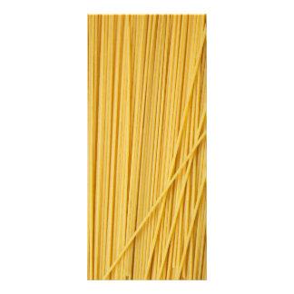 Fondo de los espaguetis tarjeta publicitaria