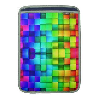 Fondo de los gráficos del arco iris 3d de los fundas para macbook air