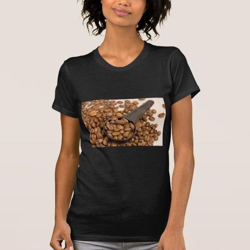 Fondo de los granos de café camisetas