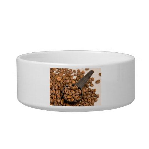 Fondo de los granos de café comedero para mascota