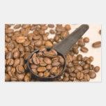 Fondo de los granos de café etiqueta