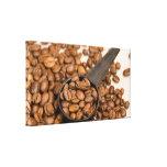 Fondo de los granos de café lienzo envuelto para galerías