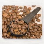 Fondo de los granos de café tapetes de ratones