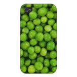 Fondo de los guisantes verdes iPhone 4/4S fundas