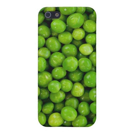 Fondo de los guisantes verdes iPhone 5 cárcasas