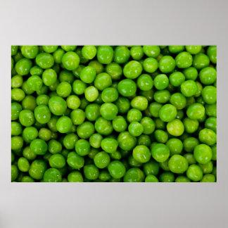 Fondo de los guisantes verdes impresiones