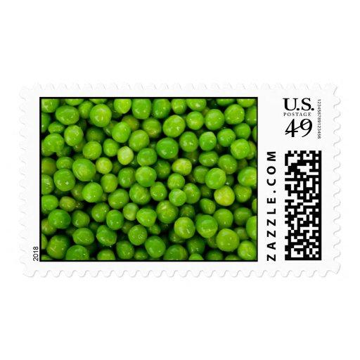 Fondo de los guisantes verdes sellos