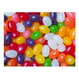Fondo de los Jellybeans - habas de jalea de Pascua Tarjetas Postales