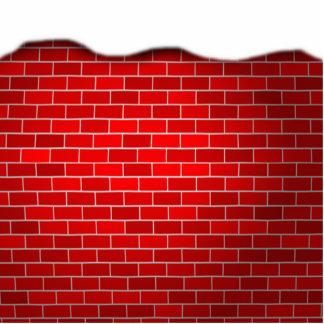 Fondo de los ladrillos rojos de la deriva de la fotoescultura vertical