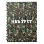 Fondo de los militares del camuflaje del arbolado libros de apuntes