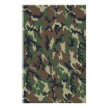 Fondo de los militares del camuflaje del arbolado papelería personalizada