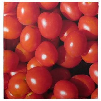 Fondo de los tomates servilletas imprimidas