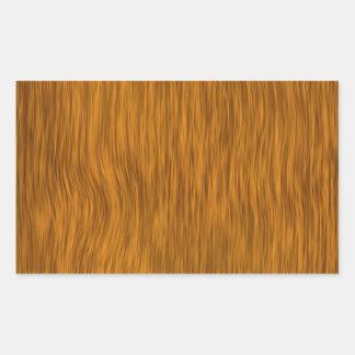 Fondo de madera áspero de oro de la textura pegatina rectangular