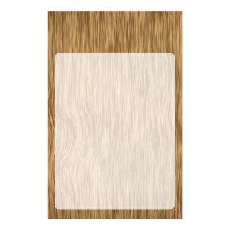 Fondo de madera áspero del grano en color natural papeleria personalizada