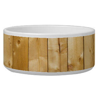 Fondo de madera brillante tazón para perro