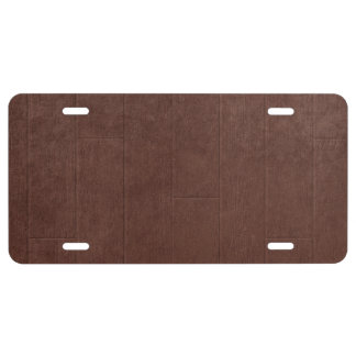 Fondo de madera de Brown Placa De Matrícula