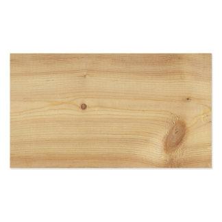 Fondo de madera de pino tarjetas de visita