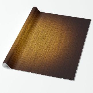 Fondo de madera granoso del resplandor solar del papel de regalo