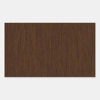 Fondo de madera granoso rústico oscuro pegatina rectangular