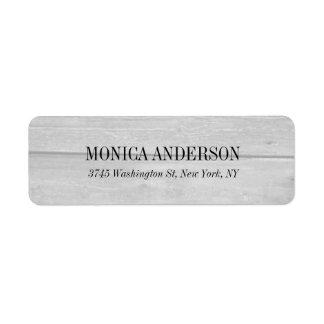 Fondo de madera gris moderno elegante etiqueta de remitente