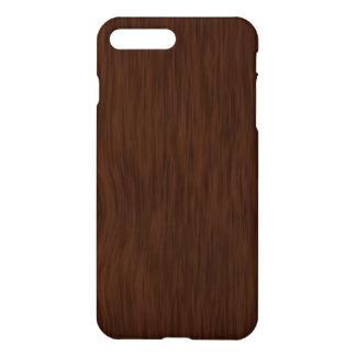Fondo de madera oscuro de la mirada del grano funda para iPhone 7 plus