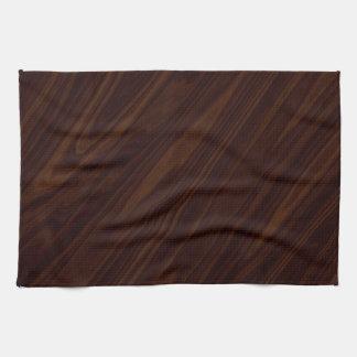 Fondo de madera oscuro toallas de mano
