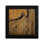Fondo de madera oxidado cajas de joyas