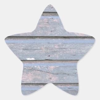 fondo de madera pegatina en forma de estrella